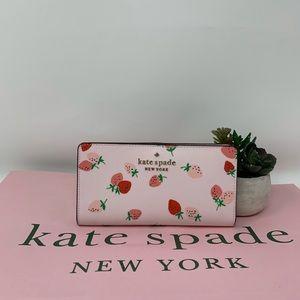 Kate Spade Staci Strawberry LG Slim Bifold Wallet